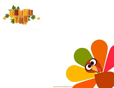 Happy Thanksgiving Card Printout Template by Free Thanksgiving Border Templates Customizable Printable