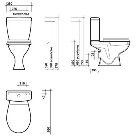 size of toilet dimension toilette standard obasinc com