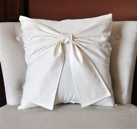 cream couch pillows new years sale cream bow pillow decorative pillow