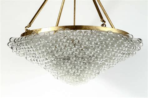 glass bead chandelier large blown glass beaded chandelier at 1stdibs