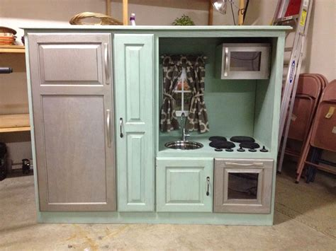 upcycled kitchen ideas diy play kitchen from an upcycled entertainment center