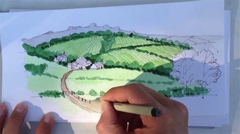 how to draw with watercolors