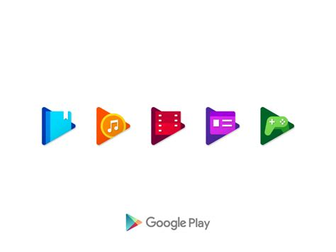 design google play google play icons by erkan sari dribbble