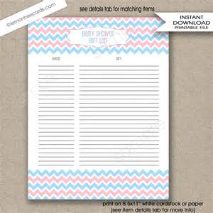 baby shower gift list template free free list template download printable baby shower gift printable baby shower gift list template sample templates