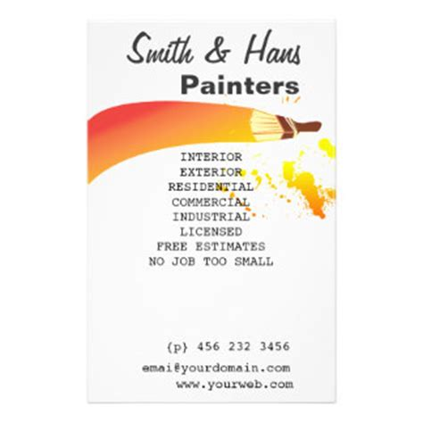 painting flyers templates free painters promotional flyers painters promotional flyer