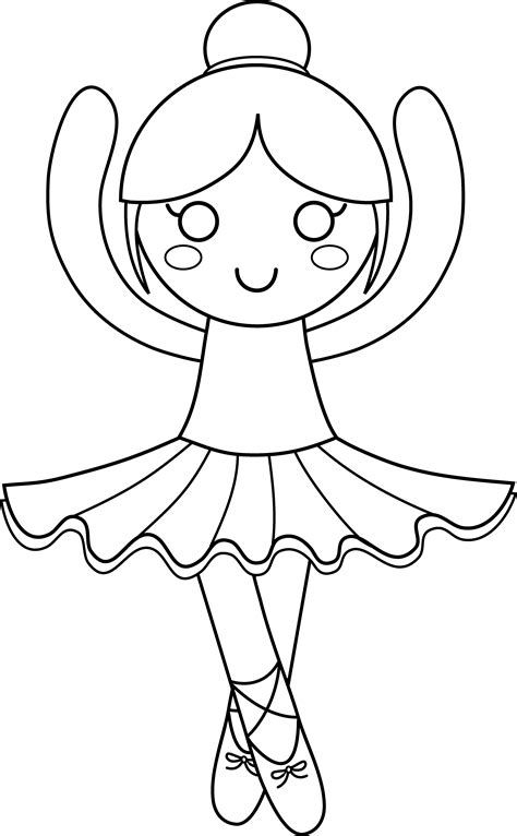 Cute Ballerina Coloring Pages | cute ballerina coloring page free clip art