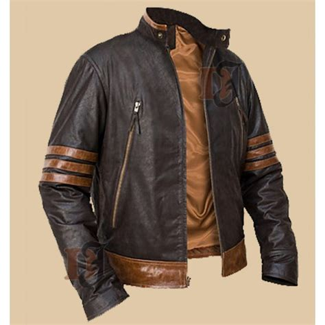 brown motorcycle jacket buy origins logan wolverine brown biker jacket