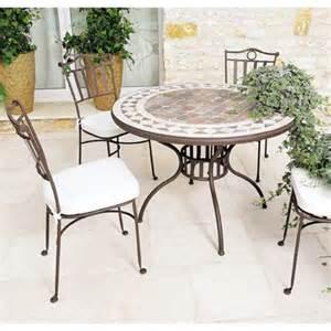 table de jardin mosaique en marbre naturel 150 x 100 cm
