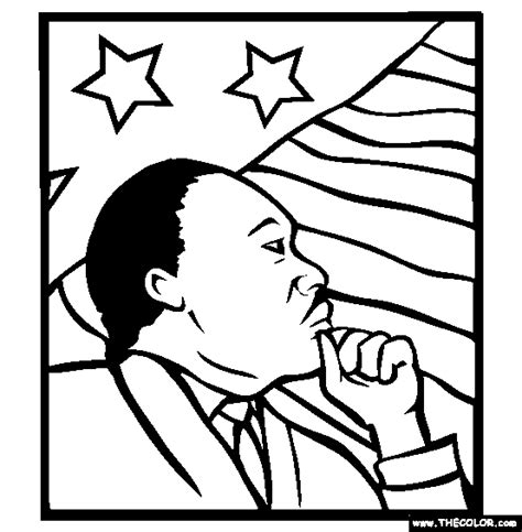 Printable Coloring Page Of Martin Luther King Jr | martin luther king jr coloring pages coloring home