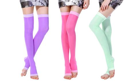Detox Socks by Thigh High Compression And Detox Groupon Goods