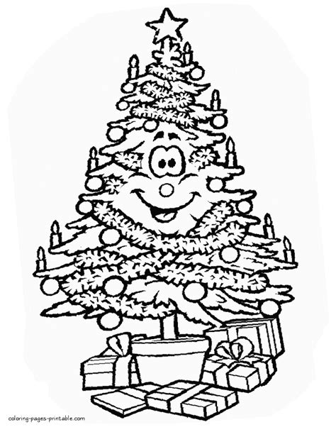 Coloring Pages Christmas Trees Christmas Lights Decoration Tree Lights Coloring Pages
