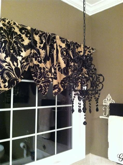 black window curtains window valance made from pillow shams diy black and tan