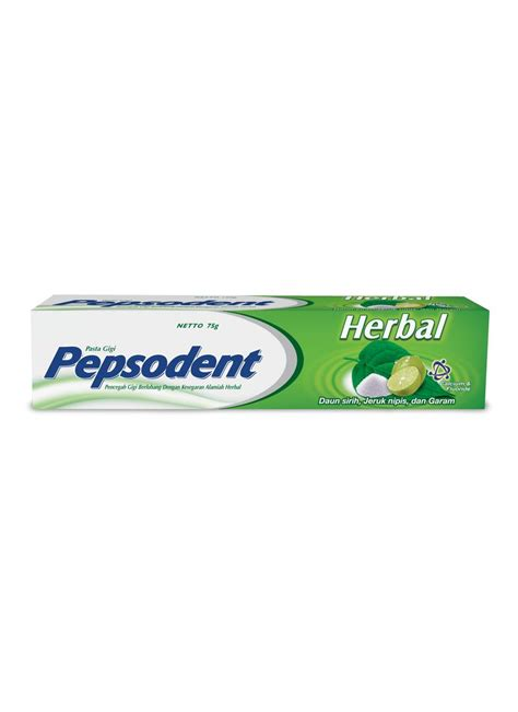 Pasta Gigi Pepsodent Besar pepsodent pasta gigi herbal tub 75g klikindomaret