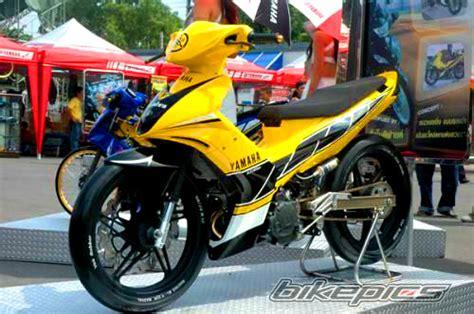 Lu Led Motor Mx 135 modifikasi yamaha jupiter mx dual muffler keren abis