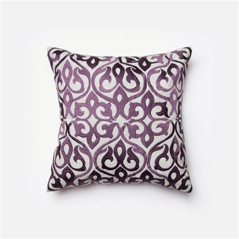 Decorative Accent Pillows Grey And Plum 18 Inch Decorative Pillow With Insert