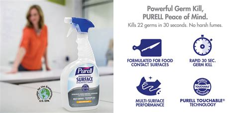design for the environment disinfectants gojo industries purell 174 surface disinfectants sanitizers