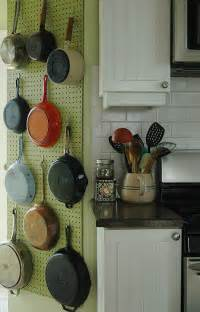 a julia child pegboard pot rack