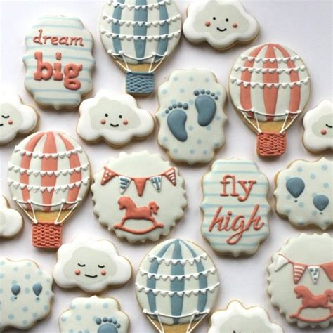 Air Balloon Themed Baby Shower by Air Balloon Themed Baby Shower Cookies Missbiscuit