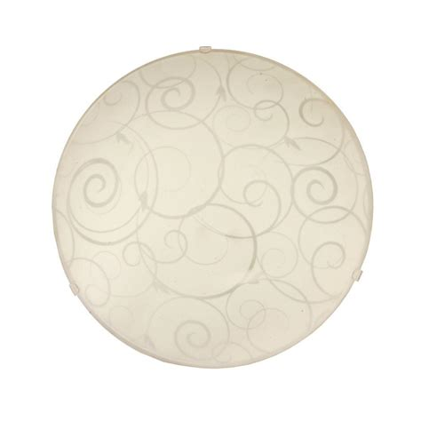 Ceiling Swirls by Simple Designs Scroll Swirl Design 1 Light White Ceiling