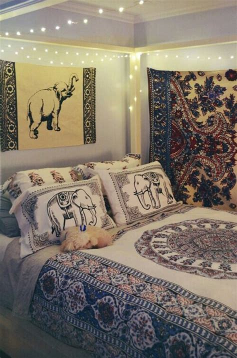 elephant themed living room home accessory boho bedroom bedding pillow sheets wheretoget