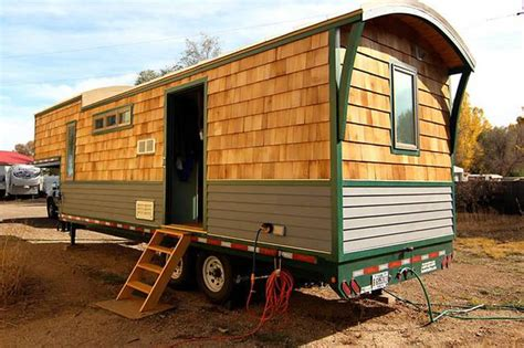 Refreshing Tiny House Is Built Using Gooseneck Trailer Tiny House On Gooseneck Trailer