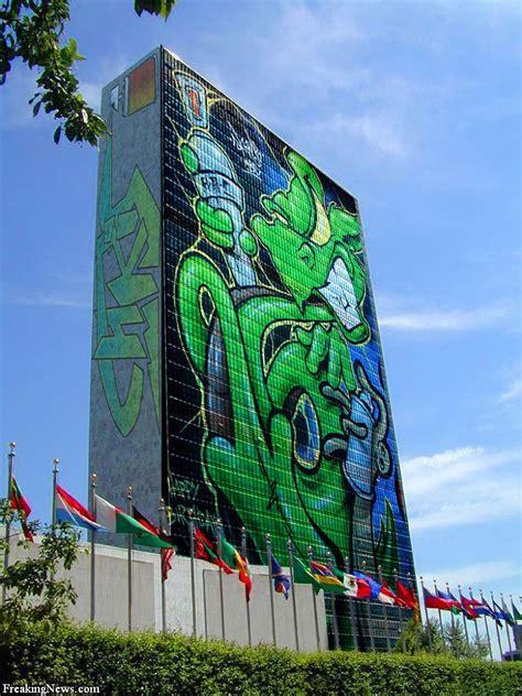 defying gravity graffiti vandalism  art