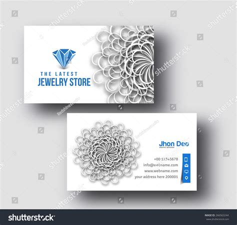 necklace card template pdf jewelry shop business card vector template 266563244