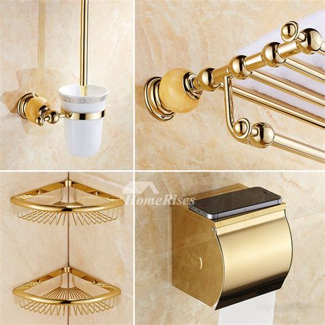 polished brass bathroom accessories polished brass wall mount marble gold bathroom accessories