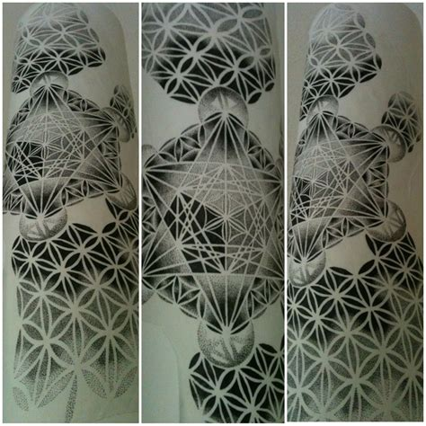 geometric dotwork tattoo designs grey ink geometric dotwork