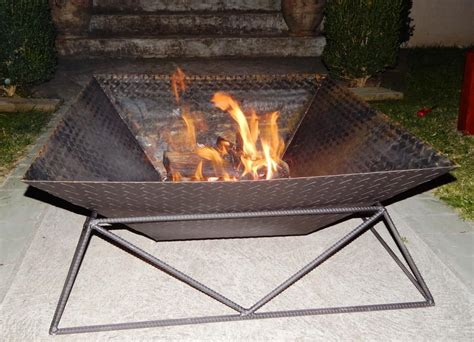 Steel Firepit Cool Metal Pit Modern Bedroom Sets Design Ideas