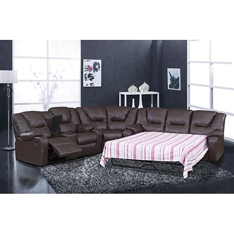 Sectional Sofa With Sleeper And Recliner Temper Reclining Sectional Sleeper 14118538 Overstock Shopping Big Discounts On
