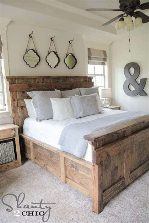 to king bed diy king size bed free plans shanty 2 chic