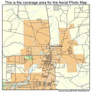 aerial photography map of snowflake az arizona