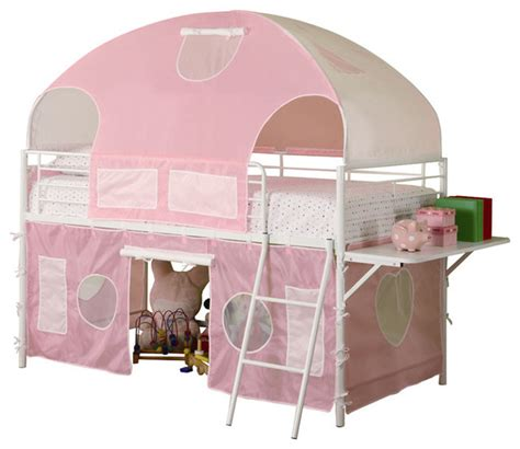 safe bunk beds for toddlers girls white metal pink tent twin bunk loft bed w shelf