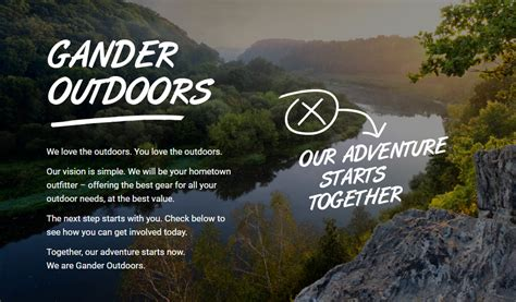 gander mountain is now gander outdoors design the new
