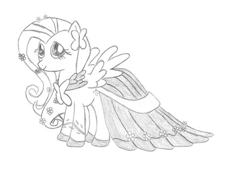 my little pony coloring pages dress fluttershy gala dress by phyredash on deviantart