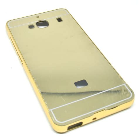 Aluminum Bumper With Mirror Back Cover For Xiaomi Redmi Note 3 Rosego aluminium bumper with mirror back cover for xiaomi redmi 2