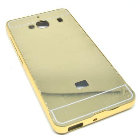 Aluminium Bumper With Mirror Back Cover For Xiaomi R 2ezkqn Gold Aluminium Bumper With Mirror Back Cover For Xiaomi Redmi 2