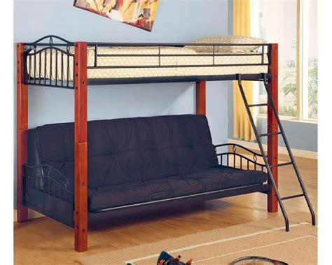 Black Futon Bunk Bed Coaster Furniture Futon Bunk Bed In Black Haskell Co2249