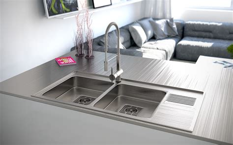 sink design kitchen stainless steel double sink interior design ideas