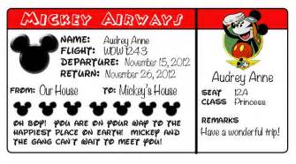 Pretend Plane Ticket Template by 7 Best Images Of Printable Disney World Tickets