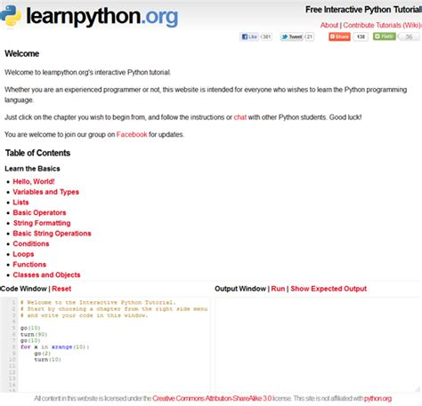 Tutorial Website Python | the 5 best websites to learn python programming