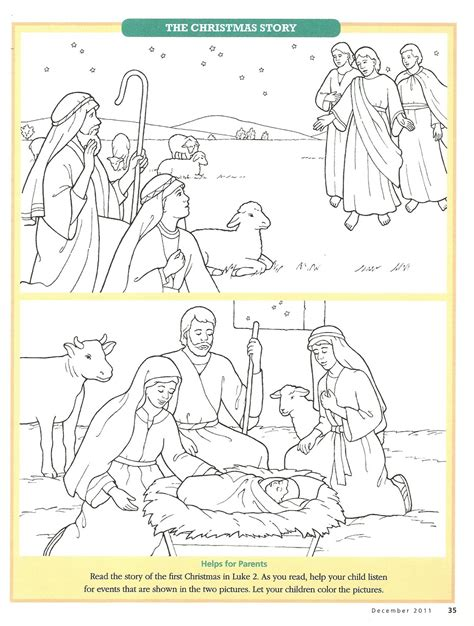 coloring pages jesus birth story colour nativity figures new calendar template site