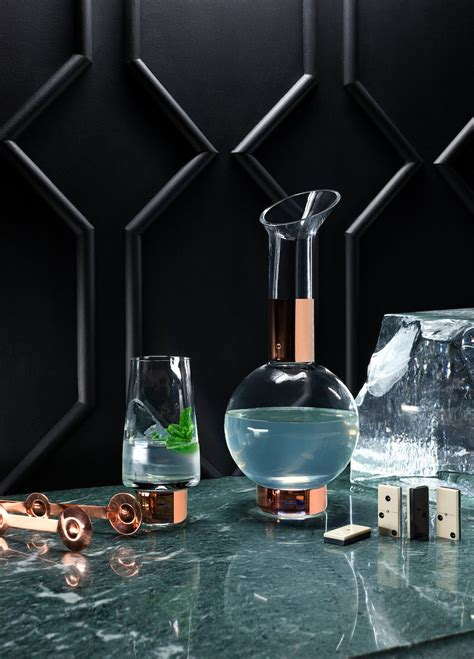 bar ware copper and brass stationery by tom dixon