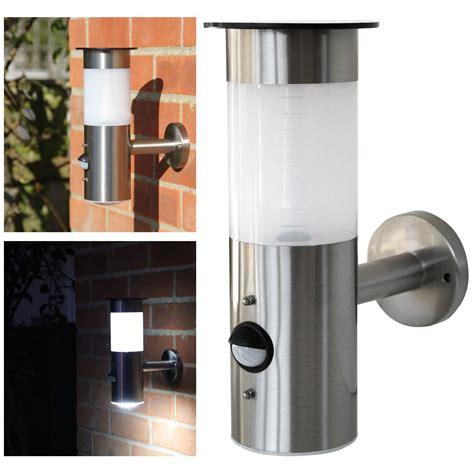 solar sensor wall light frostfire solar wall light with pir motion sensor ebay