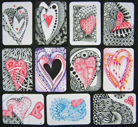 heart zentangle pattern heart zentangle i especially love the heart in the middle