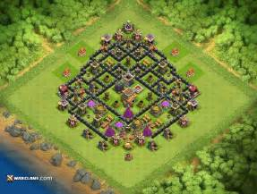 Best southern teaser th8 clash of clans defensive base layout