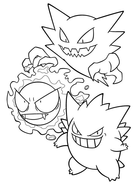 pokemon coloring pages haunter pokemon haunter coloring coloring pages