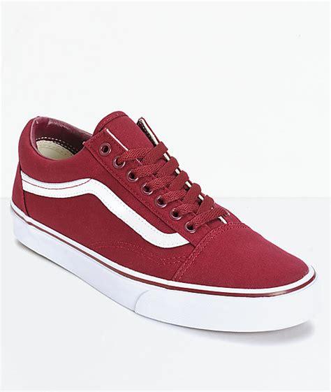 vans maroon shoes vans skool skate shoes zumiez