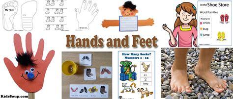 kindergarten activities hands on hands and feet activities crafts rhymes and books